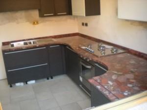 Cucina in Rosso Marinace